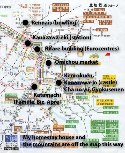 Kanazawa And The Eurocentres School - Japan map kanazawa